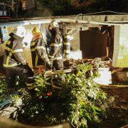 Schwelbrand im Gartenhaus