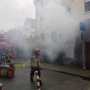 Müllbehälter brannten in der Innenstadt