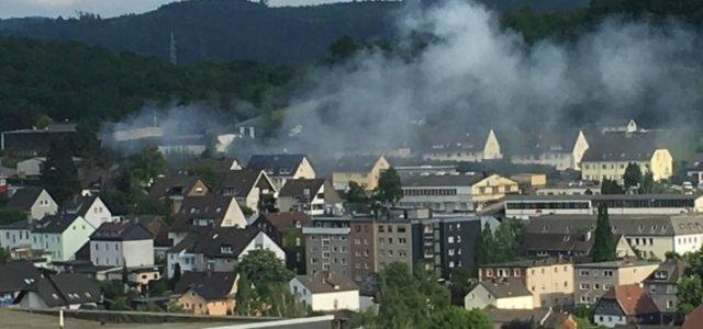 Brandeinsatz in Oestrich