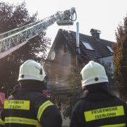Balkon stand in Flammen