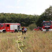 Flächenbrand im Bereich Hombrucher Weg / Bieler Straße