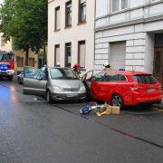 Frau eingeklemmt und lebensgefährlich verletzt
