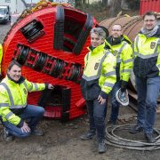 Neubau des Abwasserkanals Burgweg: Erster Rohrvortrieb gestartet