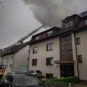 Kaminbrand griff auf Dachstuhl über