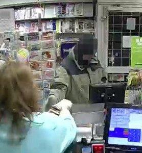Foto vom Raubüberfall auf Kiosk