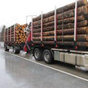 Holztransporter um 7 Tonnen überladen